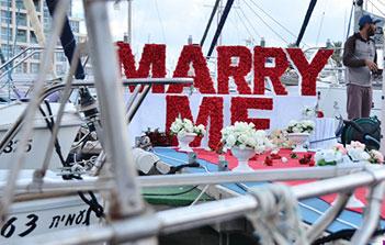 הצעת נישואין על יאכטה