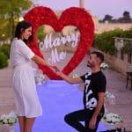 הצעת נישואין בכותל מגדל דוד